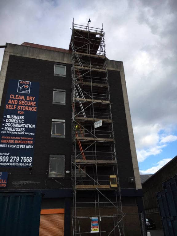 Scaffolding on 5 Storey Office Building